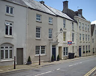 White terraced houses in Tetbury